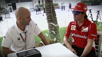 Antonio Lobato y Fernando Alonso