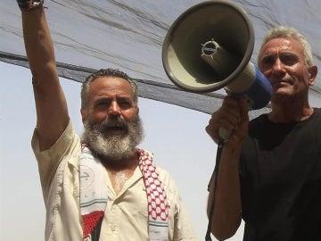 Sánchez Gordillo, en una protesta con jornaleros
