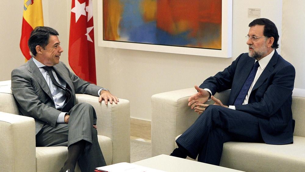Ignacio González y Mariano Rajoy