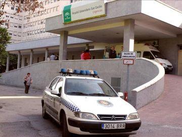 Un coche de la policía local