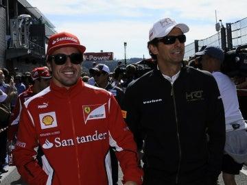 De la Rosa, junto a Fernando Alonso