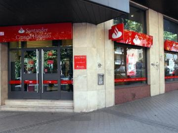 Una sucursal del banco Santander