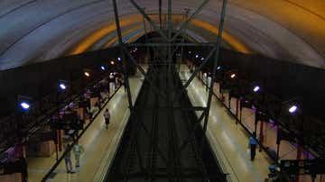 Estación de metro en Barcelona