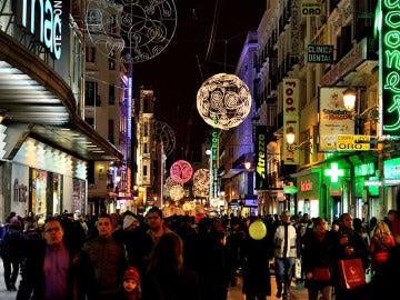 Navidad en la calle Preciados de Madrid
