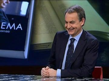 1 Zapatero, en un momento de la entrevista en El Intermedio