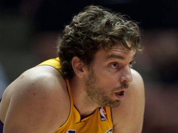 El pívot de los Lakers Pau Gasol