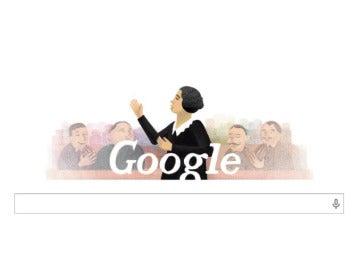 Google rinde homenaje a Clara Campoamor