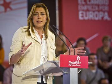 Susana Díaz durante un acto del PSOE
