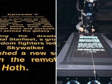 La perspectiva de los títulos de crédito del Star Wars original no fue un efecto digital.