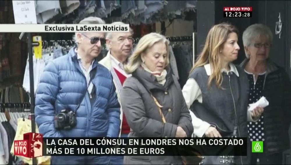 Miguel Blesa junto al cónsul español en Londres, Rafael Jover