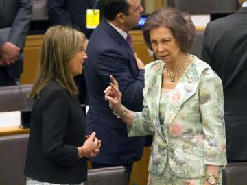 La reina Sofía en la sede de la ONU
