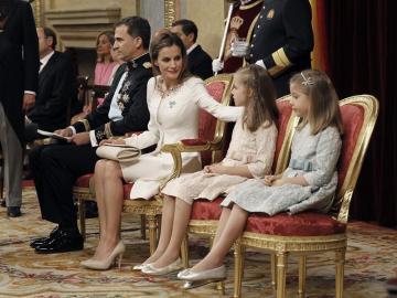 Don Felipe, Doña Letizia, Leonor y Sofía
