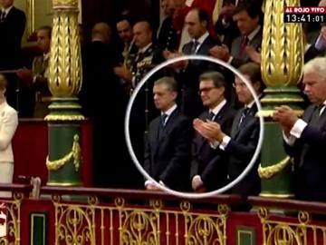 Urkullu y Mas no aplauden tras el discurso de Felipe VI