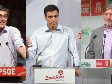 Eduardo Madina, Pedro Sánchez y José Antonio Pérez Tapias