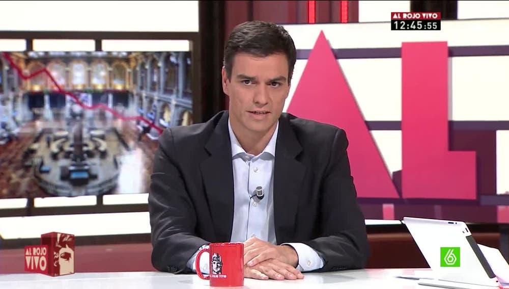 Pedro Sánchez, en 'Al Rojo Vivo'