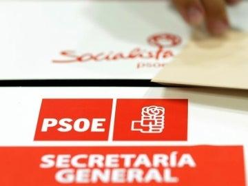 Una de las urnas utilizadas para la elección del nuevo secretario general del PSOE