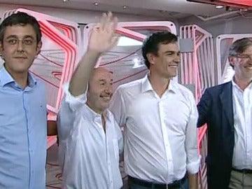 Eduardo Madina, Rubalcaba, Pedro Sánchez y José Antonio Pérez-Tapias