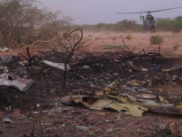 Zona en la que han sido localizados los restos del avión de Swiftair