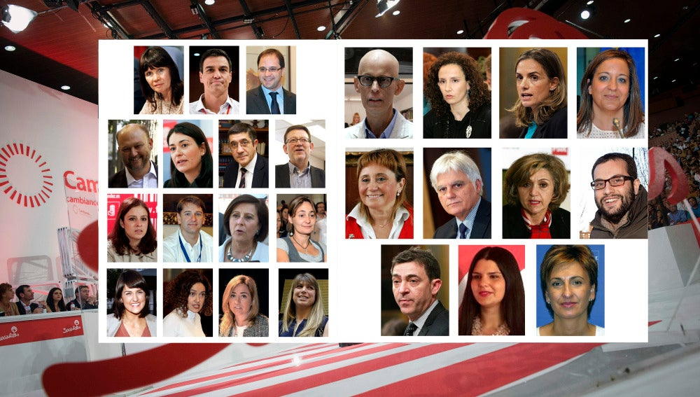 Miembros de la Ejecutiva del PSOE