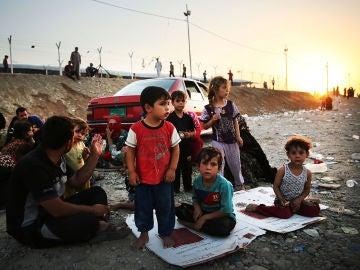 Niños refugiados en Irak