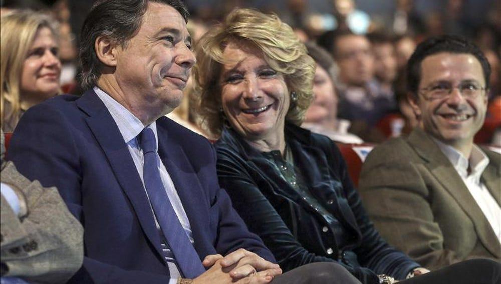 Esperanza Aguirre e Ignacio González en un acto