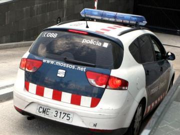 Un vehículo de los Mossos d´Esquadra