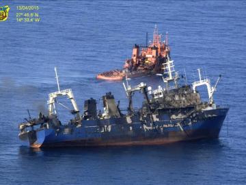 El pesquero ruso 'Oleg Naidenov' se hunde a 28 kilómentro de las costas canarias