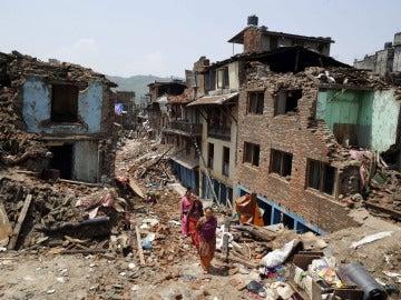 Nepal antes del segundo terremoto de 7,4 grados