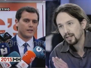 Albert Rivera y Pablo Iglesias en 'El Objetivo'