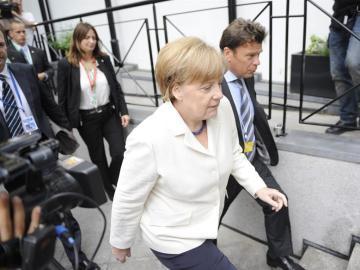 Angela Merkel en Bruselas