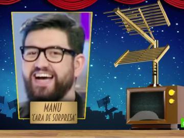 Manu 'cara de sorpresa Sánchez es el primer finalista a 'Mejor Zasca del año'