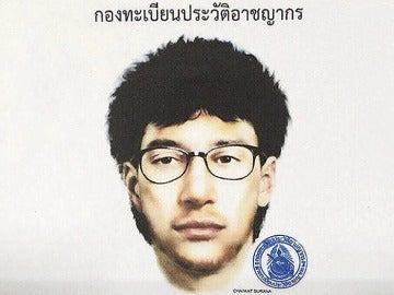 Retrato robot del sospechoso atentado Bangkok