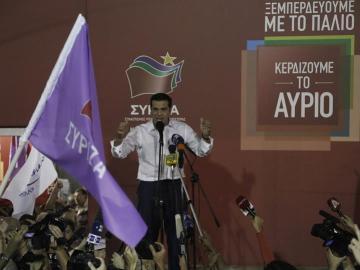 Alexis Tsipras tras ganar las elecciones
