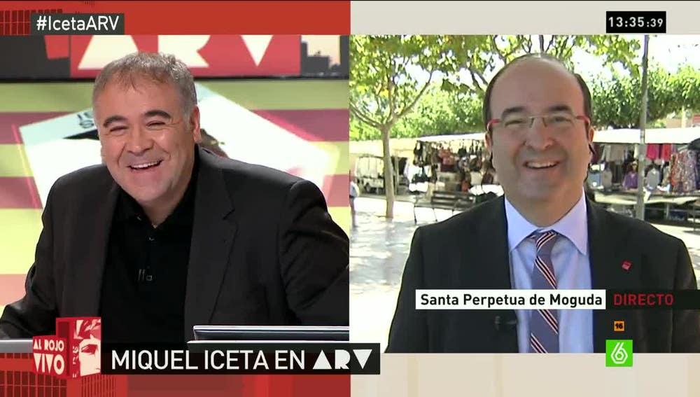 Miquel Iceta durante una entrevista en Al Rojo Vivo
