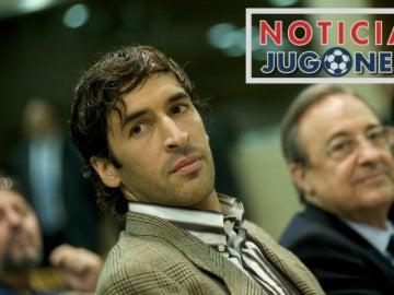Raúl y Florentino Pérez NOTICIA JUGONES