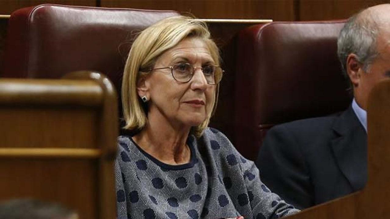 Rosa Díez, cofundadora de UPyD, en el Congreso