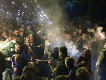 Protesta contra el Gobierno de Montenegro en Podgorica