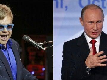 Elton John y Vladimir Putin