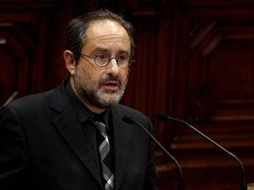 Antonio Baños en el Parlament