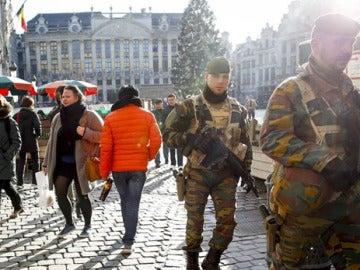 Miembros del Ejército en Bruselas