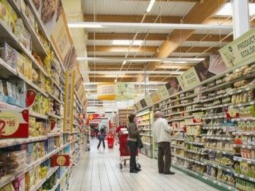 Pasillo de un Supermercado