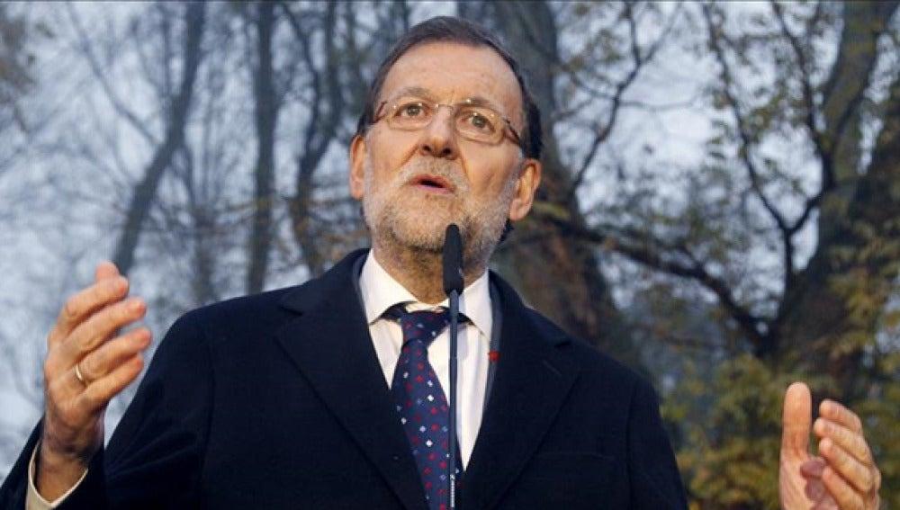 Mariano Rajoy durante un acto electoral