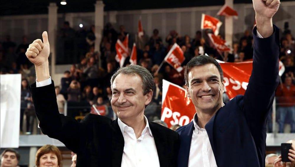 Pedro Sánchez y Zapatero