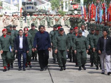 El presidente de Venezuela, Nicolás Maduro en el acto de salutación de Navidad