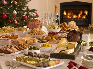 Copiosas comidas en Navidad