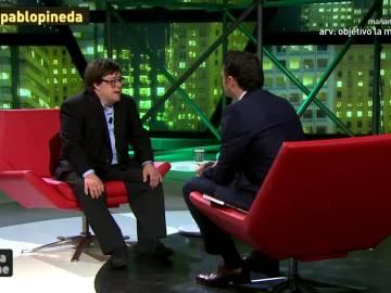 Pablo Pineda con Iñaki López en laSexta Noche