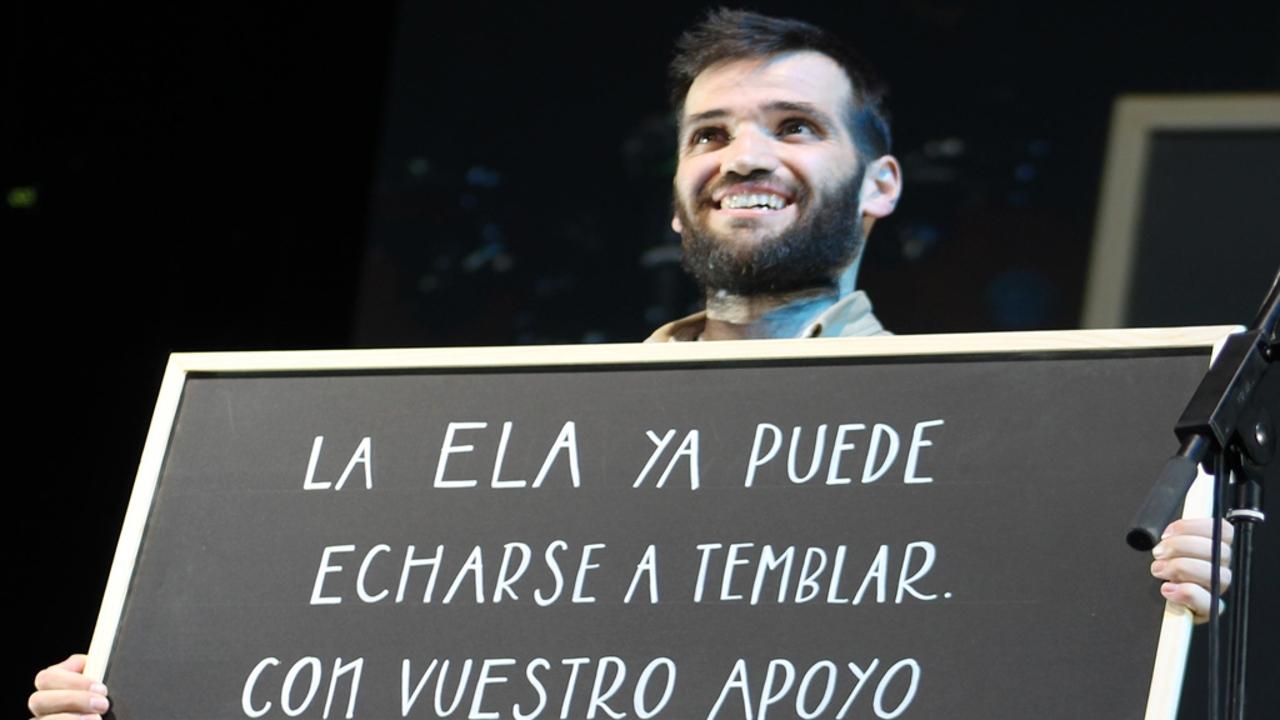 Carlos Matallanas, durante el concierto #PorUnMundoSinELA