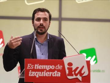 El secretario general de Izquierda Unida, Alberto Garzón