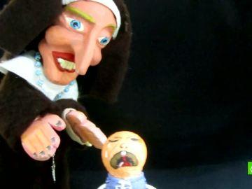 Algunos de los muñecos de los titiriteros detenidos en Madrid