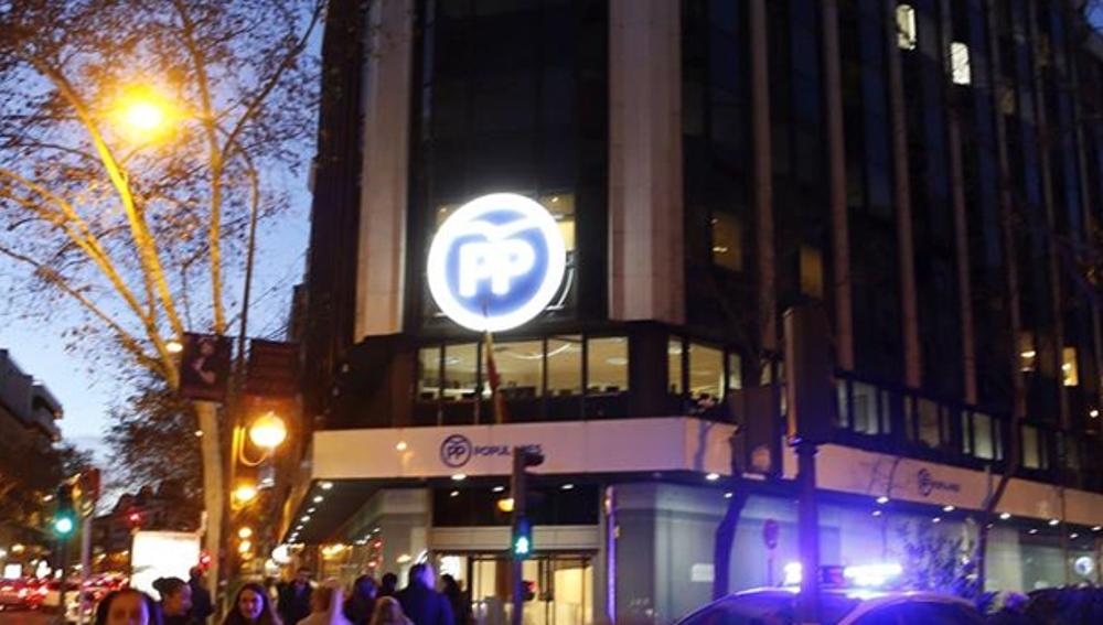 Sede del Partido Popular de Madrid en la calle Génova